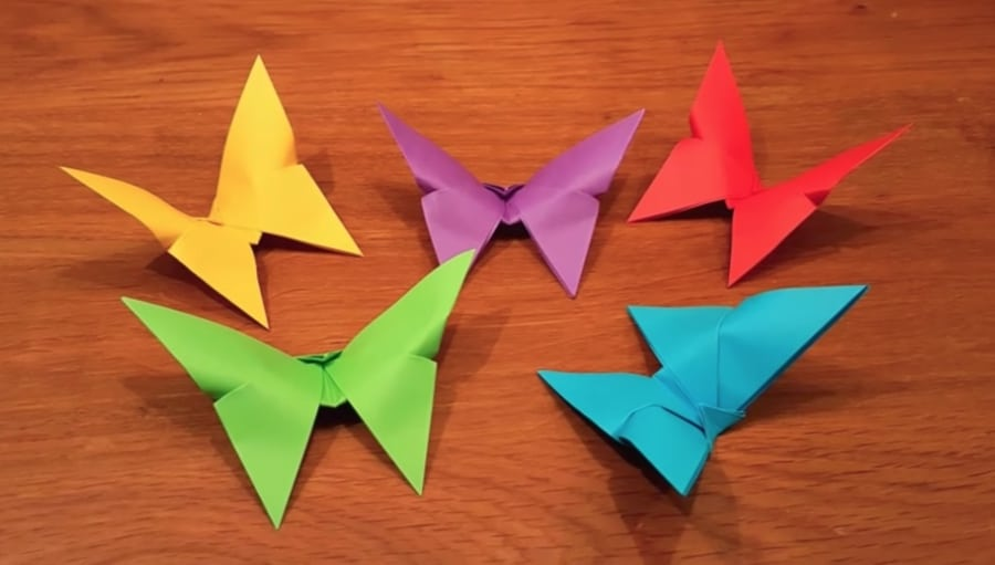 three minute butterfly origami